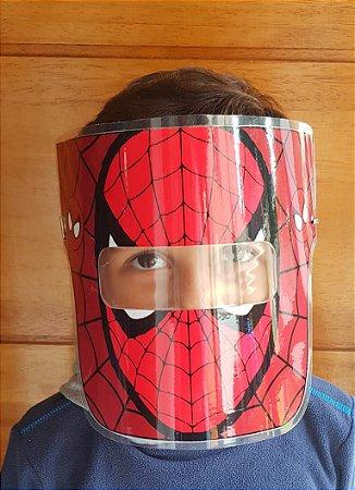 Mascarinhos - Mascara Protetora Facial Infantil- HOMEM ARANHA - Face Shield