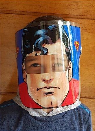 Mascarinhos - Mascara Protetora Facial Infantil- SUPER HOMEM - Face Shield