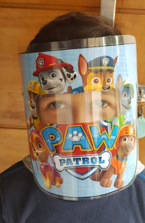 Mascarinhos BABY - Mascara Protetora Facial Infantil- PATRULHA CANINA- AZUL - Face Shield BABY