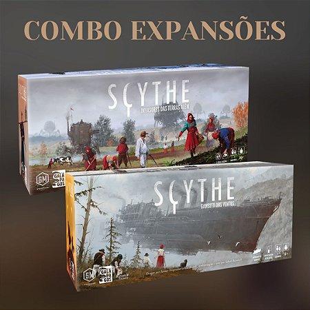 Combo Expansões do Scythe - O Gambito dos Ventos + Invasores das Terras Além