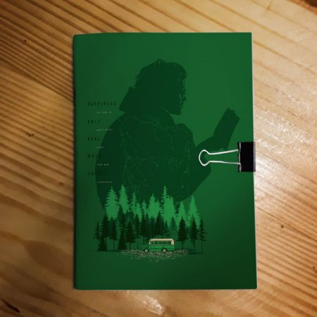 Caderno - Into the Wild (Happiness - Escuro)