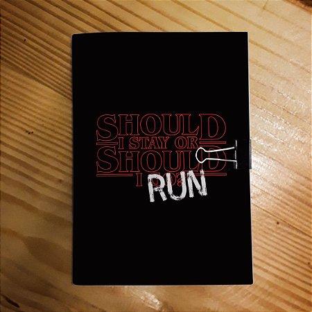Caderno - Stranger Things (Run!)