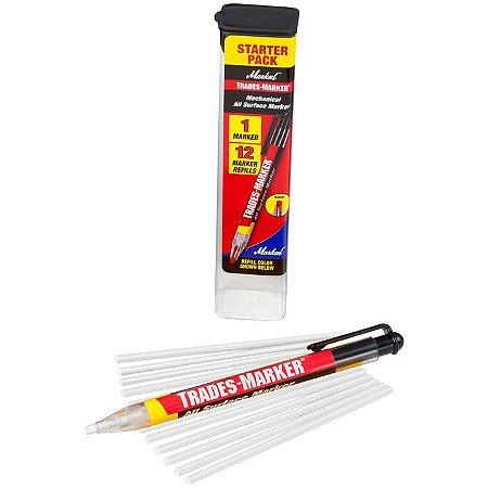 Lapiseira de Plástico Markal Trades Marker + 12 refis
