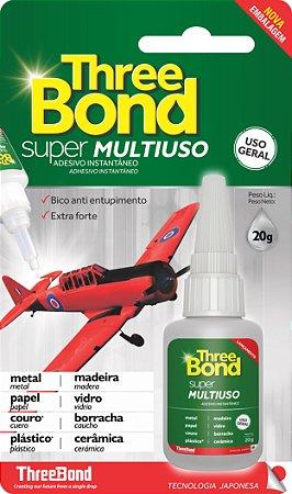 Cola Instantânea Super Multi Uso Three Bond - 20 grs