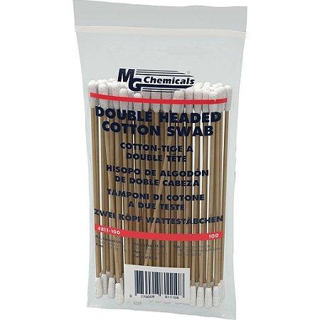 Cotonetes de Duas Cabeças Grau Farmacêutico - Pacote c/100pçs