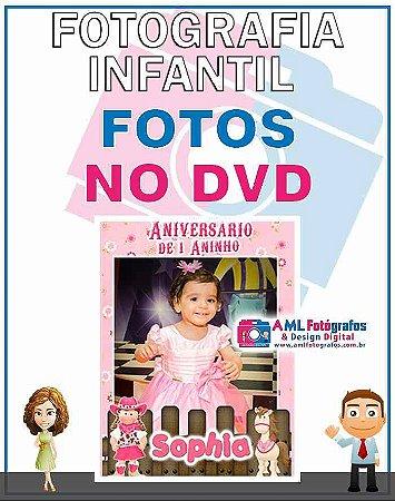 Fotografia Infantil - Fotos em DVD