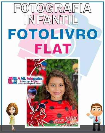Fotografia de Aniversário Infantil - Fotolivro Flat