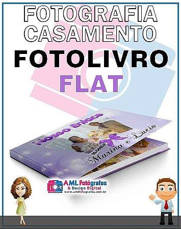 Fotografia de Casamento - Fotolivro Flat Capa Almofadada