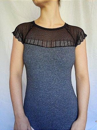 Collant Garbo - cinza com preto