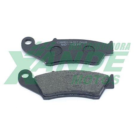 PASTILHA FREIO BIZ/NX400/XR200-250/BROS/CRF230/XRE 300 [DIANT S/ABS]COBREQ (605)