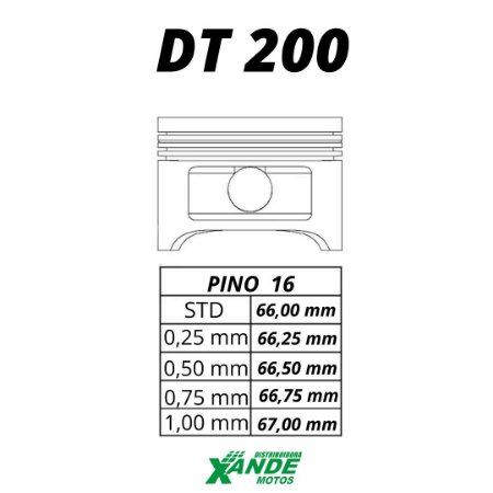 PISTAO KIT DT 200  KMP  STD