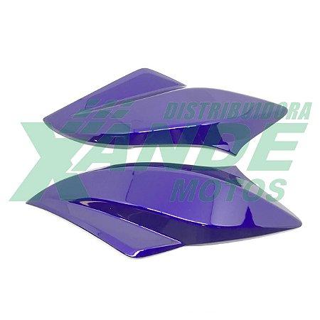 CARENAGEM FAROL TITAN 150 (LATERAL) AZUL 2012 EX (ROXO) (PAR) PARAMOTOS