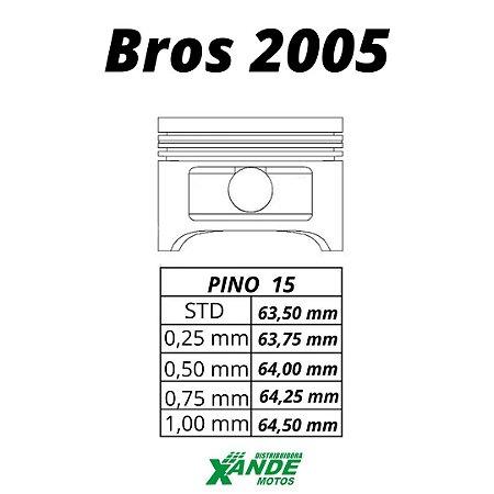 PISTAO KIT NXR BROS 150 OHC ATE 2005 KMP  STD