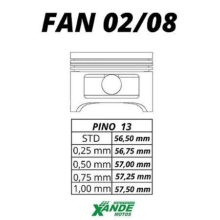 PISTAO KIT TITAN 125 2002-2004 / FAN 125 2005-2008 / NXR BROS 125 VINI  0,25