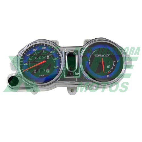 PAINEL COMPLETO TITAN 150 09-10 ESD (GASOLINA FUNDO AZUL C/ ODOMETRO) AUDAX