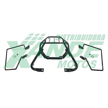 BAGAGEIRO NX 400 FALCON PRETO [COM AFASTADOR DE ALFORGE] CHAPAM