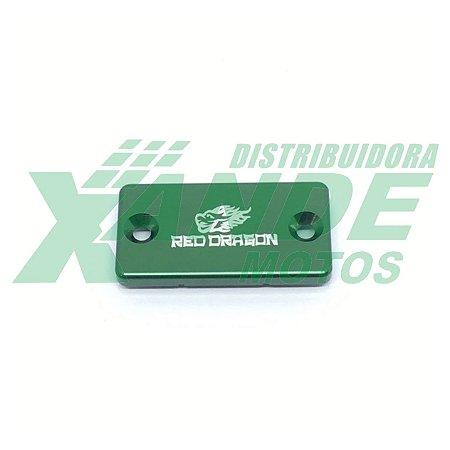 TAMPA RESERVATORIO FLUIDO FREIO KX85-80/ RM 65/ YZ80-RED DRA (VERDE)      OFERTA