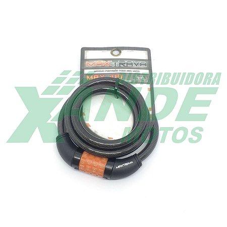 CADEADO COM CABO DE ACO ENCAPADO 12 X 1500 (COM SEGREDO) MAXTRAVA 410