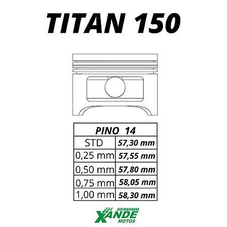 PISTAO KIT TITAN 150 TODOS OS ANOS / NXR BROS 150 2006 EM DIANTE MHX 4,00