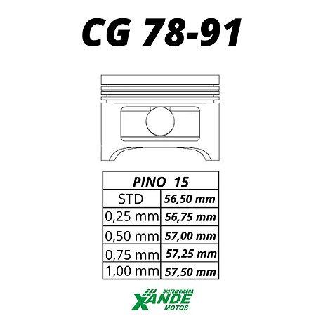 PISTAO KIT CG 125 1978-1991 MHX 2,00