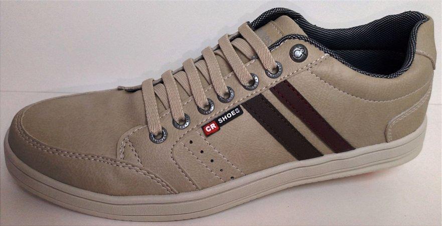 fd4cd492e3 Calçados Femininos · Calçados Masculinos. Sapatênis Casual CR Shoes Bege  super confortável