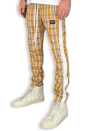 Calça Track Pant Xadrez Amarela