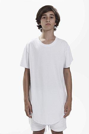 Camiseta Longline Infantil Branca
