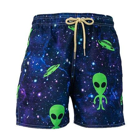 Short Masculino Estampado Alien