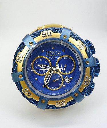 5f71a240f7c Relógio Invicta Bolt modelo 21361 Dourado   Azul - Brucuta Shop
