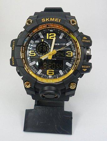 824b428d8e6 Relógio Skmei 1155 Dourado - Brucuta Shop