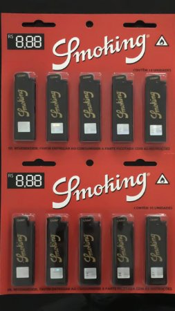 ISQUEIRO SMOKING GRANDE ( CARTELA )