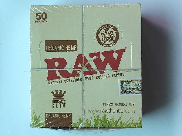 Caixa seda raw orgânica king size