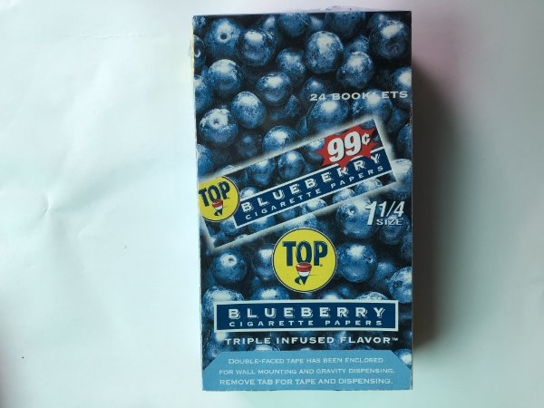 Seda Top francesa aromatizada Blueberry