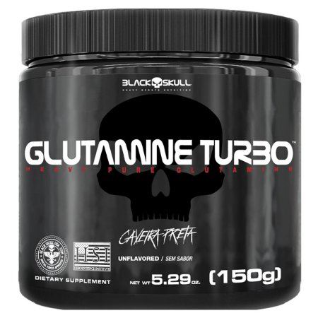 GLUTAMINE TURBO CAVEIRA PRETA - GLUTAMINA - 150G