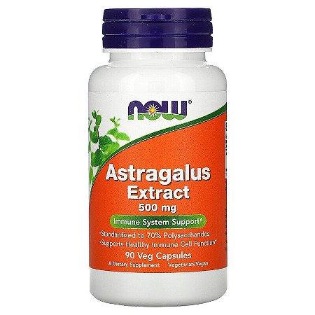 Astragalus 500mg Extrato Concentrado 70% Polissacarídeos Now Foods Original Importado Imunidade 90 Cápsulas
