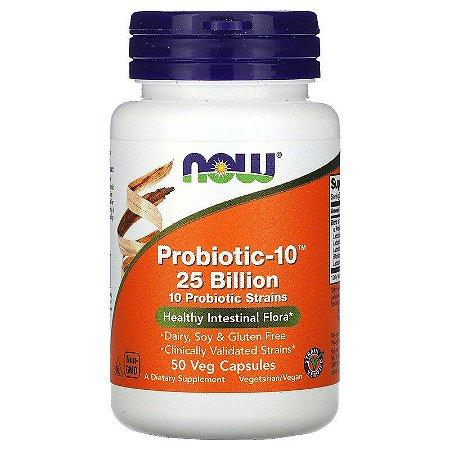 Probiótico Now Foods Probiotic-10 25 Bilhões Original Importado 50 Cápsulas