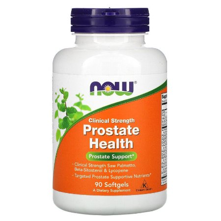 Prostate Health Saúde da Próstata Now Foods Clinical Strength 90 Softgels