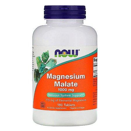Magnésio Dimalato 1000 mg Ultra Now Foods Importado 180 Comprimidos Para 6 Meses
