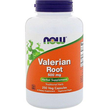 Valeriana 500mg Now Foods Importada dos EUA Original 250 Cápsulas Para 8 Meses