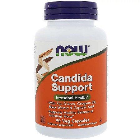 Candida Support Now Foods Original Importado Saúde Intestinal 90 cápsulas