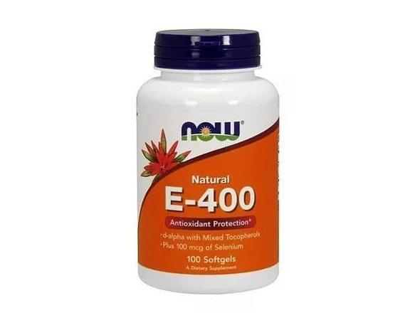 Vitamina E 400UI Importada Now Foods Antioxidante 100 Softgels