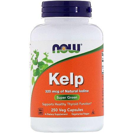 Kelp 325mcg Iodo Now Foods Original Importado Superalimento 250 Cápsulas Para 8 Meses