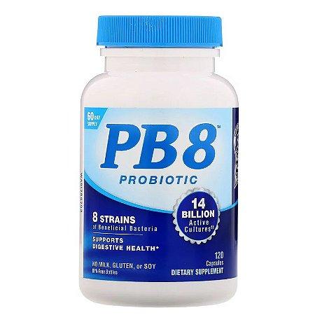Probiótico PB8 Nutrition Now 14 Bilhões Original Importado 120 Cápsulas