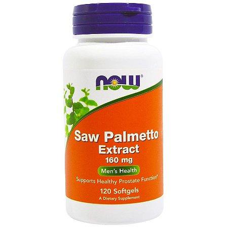 Saw Palmetto 160mg Now Foods Próstata Ejaculação Precoce Libido Importado 120 Softgels Para 4 Meses