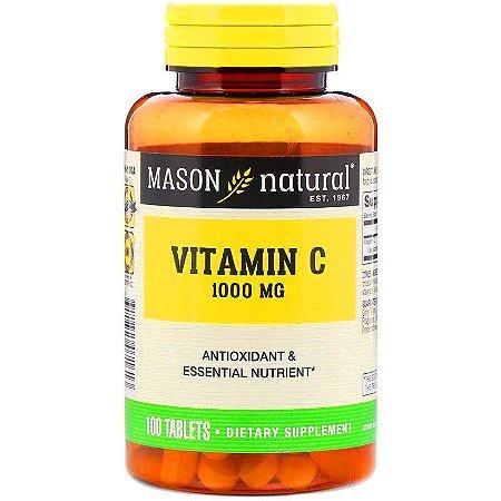 Vitamina C 1000mg Alta Concentração Mason Natural Antioxidante Imunidade Importada 100 Tablets