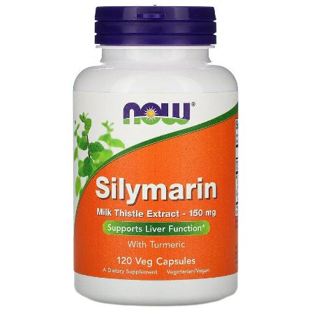 Silimarina 150mg Now Foods 120 Cápsulas Original Importado