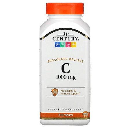 Vitamina C 1000mg Liberação Prolongada Alta Concentração 21st Century Antioxidante Imunidade Importada 110 Tablets