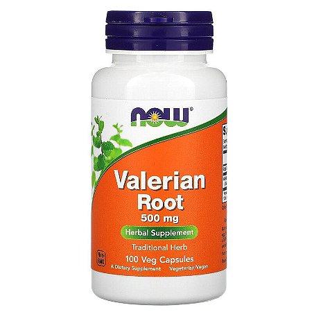 Valeriana 500mg Ansiedade Insônia Now Foods Importada dos EUA Original 100 Cápsulas