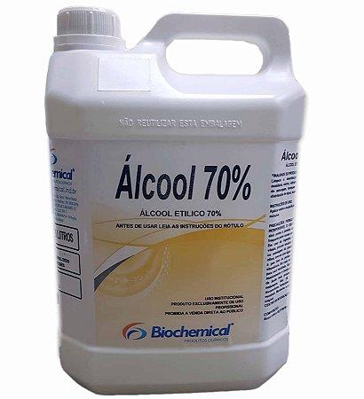 Álcool líquido 70% - 5ltr