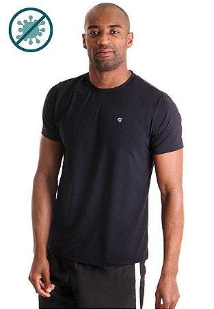 Camiseta Masculina Mangas Curtas Antivirais - Amni Virus Bac Off Rhodia